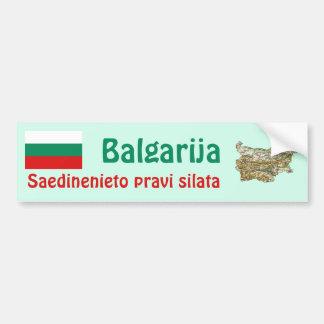 Drapeau de la Bulgarie et adhésif pour pare-chocs  Autocollants Pour Voiture