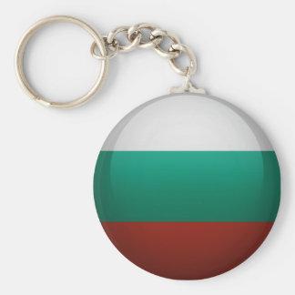 Drapeau de la Bulgarie. Porte-clé Rond
