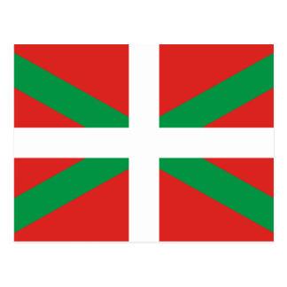 Drapeau de la carte postale Basque de pays