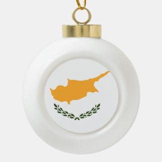 Drapeau de la Chypre Boule En Céramique