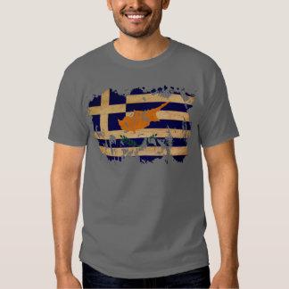 Drapeau de la Chypre de Grec T-shirts