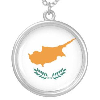 Drapeau de la Chypre Pendentif Rond