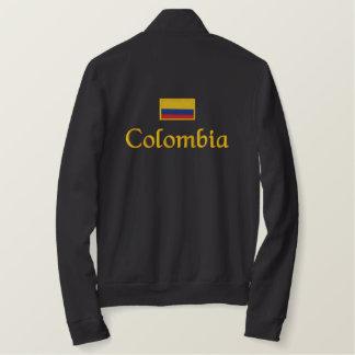 Drapeau de la Colombie Veste Jogger Molletonnée Brodée