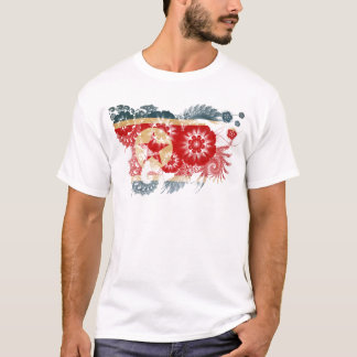 Drapeau de la Corée du Nord T-shirt