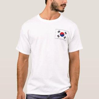 Drapeau de la Corée du Sud et T-shirt de carte