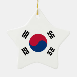 Drapeau de la Corée du Sud Ornement Étoile En Céramique