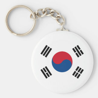 Drapeau de la Corée du Sud Porte-clé Rond
