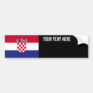 Drapeau de la Croatie Autocollant De Voiture
