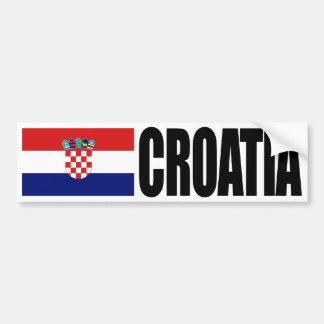 Drapeau de la Croatie Autocollant Pour Voiture