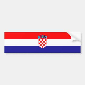 Drapeau de la Croatie/Croate/Croate Autocollant Pour Voiture