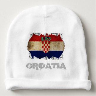 drapeau de la Croatie déchiré Bonnet De Bébé