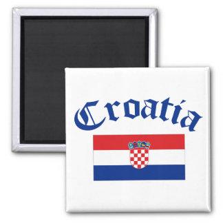 Drapeau de la Croatie Magnet Carré