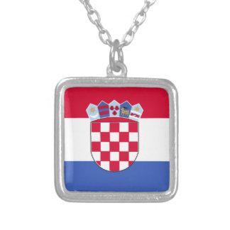 Drapeau de la Croatie Pendentif Carré