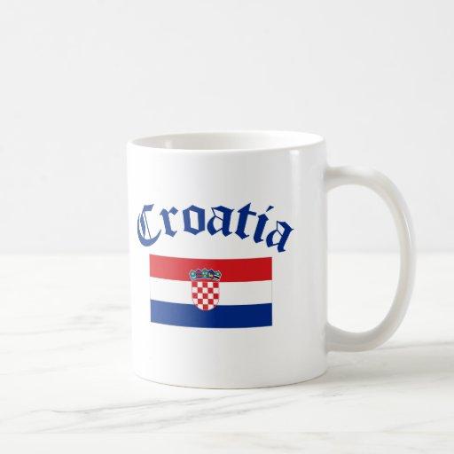 Drapeau de la Croatie Mug À Café