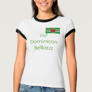 Drapeau de la Dominique, 767 Dominicain Bellazzz T-shirt