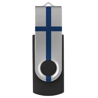 Drapeau de la Finlande Clé USB 2.0 Swivel