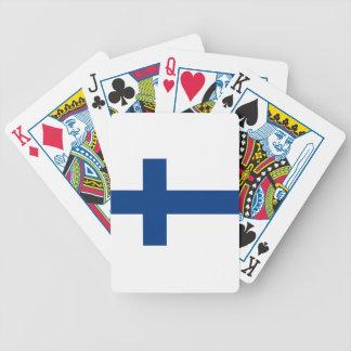 Drapeau de la Finlande (lippu de Suomen, flagga de Jeu De Cartes