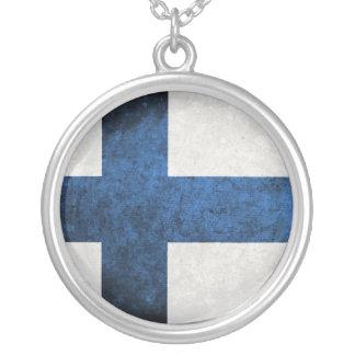 Drapeau de la Finlande Pendentif Rond