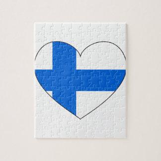 Drapeau de la Finlande simple Puzzle
