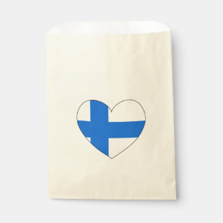 Drapeau de la Finlande simple Sachets En Papier