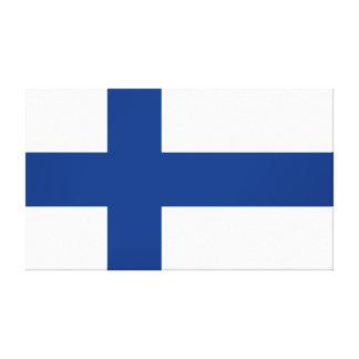 Drapeau de la Finlande Suomi croisé bleu Toile