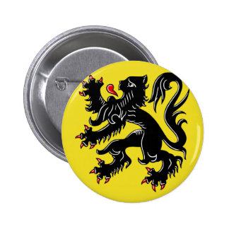 Drapeau de la Flandre (Belgique) Badge Rond 5 Cm