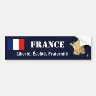 Drapeau de la France + Adhésif pour pare-chocs de  Autocollants Pour Voiture