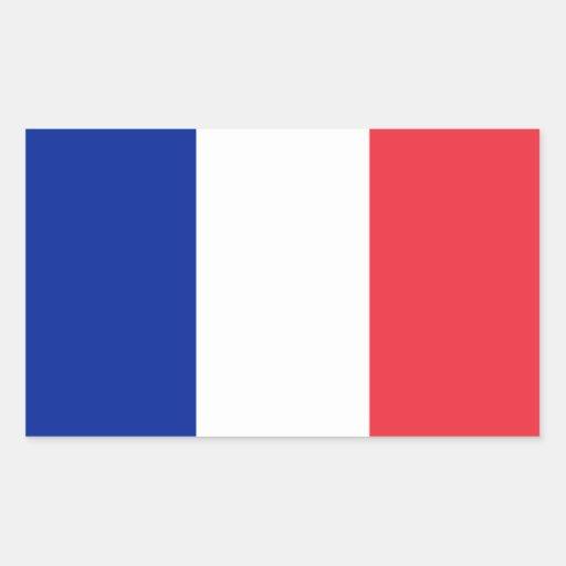 Drapeau de la France Sticker Rectangulaire