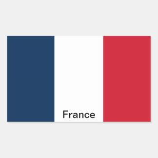 Drapeau de la France Autocollants En Rectangle