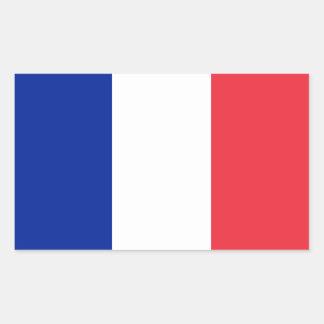 Drapeau de la France Autocollants Rectangulaires