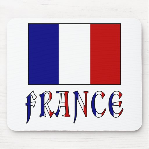 drapeau de la france avec le nom colore tapis de souris With tapis de souris personnalisé avec canapé fait en france