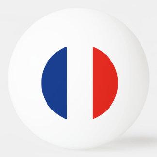 Drapeau de la France Balle Tennis De Table