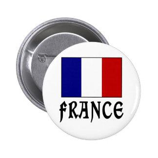 Drapeau de la France et noir de mot Badge Avec Épingle