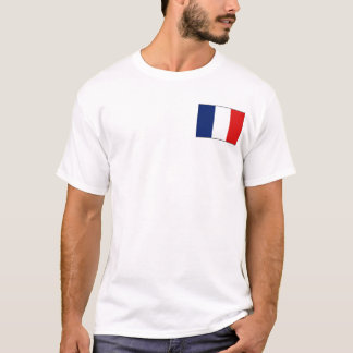 Drapeau de la France et T-shirt de carte