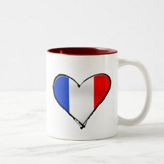 Drapeau de la France Je Taime de cadeau de la Fran Mugs À Café