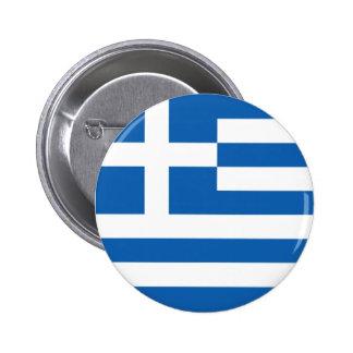 Drapeau de la Grèce Badge Rond 5 Cm