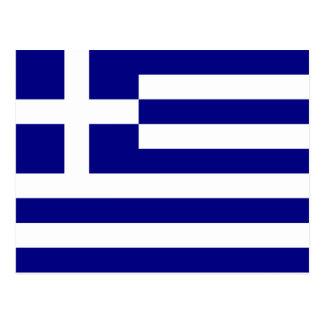 Drapeau de la Grèce Carte Postale