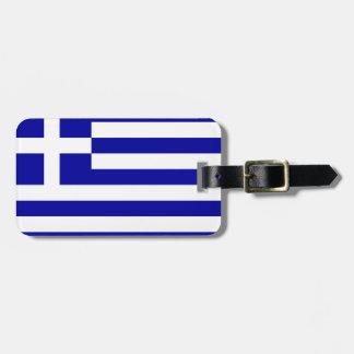 Drapeau de la Grèce Étiquettes Bagages