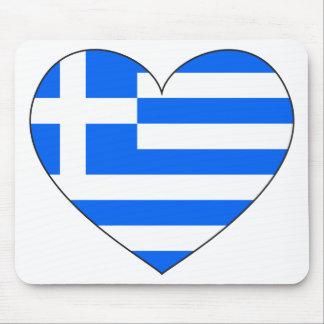 Drapeau de la Grèce simple Tapis De Souris