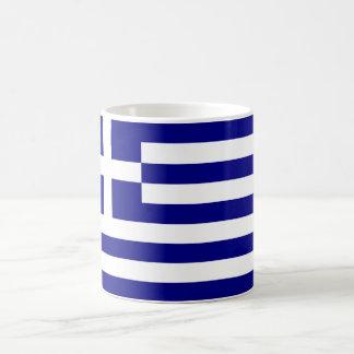 Drapeau de la Grèce Mug Blanc