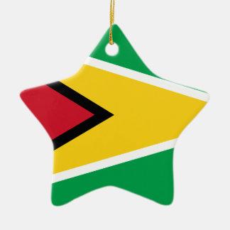Drapeau de la Guyane Ornement Étoile En Céramique