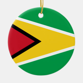 Drapeau de la Guyane Ornement Rond En Céramique