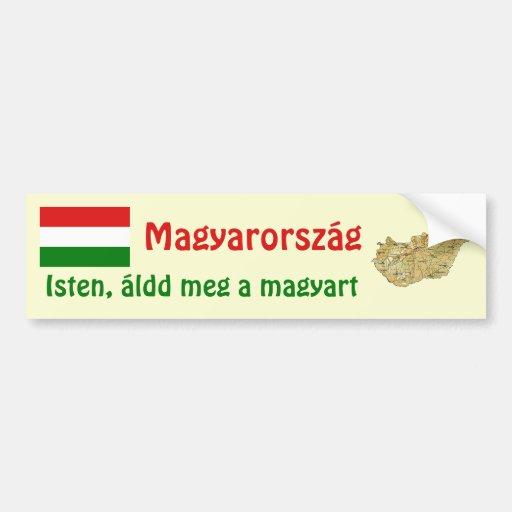 Drapeau de la Hongrie + Adhésif pour pare-chocs de Adhésifs Pour Voiture
