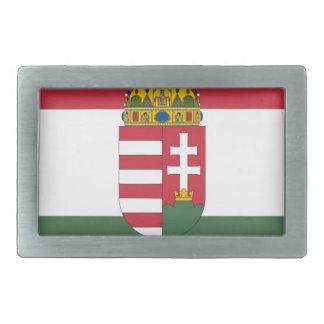 Drapeau de la Hongrie Boucle De Ceinture Rectangulaire