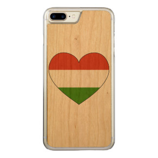 Drapeau de la Hongrie simple Coque Iphone 7 Plus En Bois