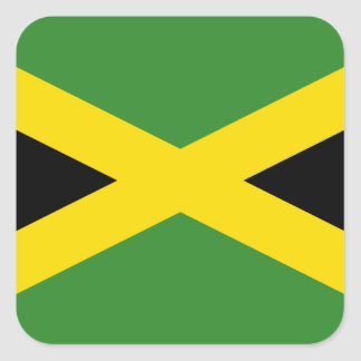 Drapeau de la Jamaïque Sticker Carré