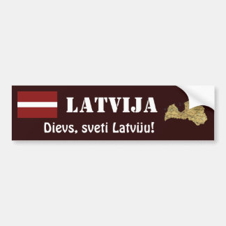 Drapeau de la Lettonie + Adhésif pour pare-chocs d Adhésifs Pour Voiture