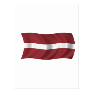 Drapeau de la Lettonie Carte Postale