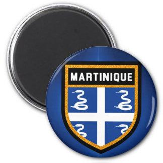 Drapeau de la Martinique Magnet Rond 8 Cm
