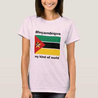 Drapeau de la Mozambique + Carte + T-shirt des
